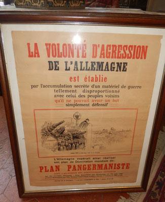 affiche plan pangermanisme    prix : 50 euros