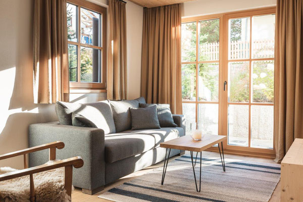 Appartement Tschima - Wohnzimmer