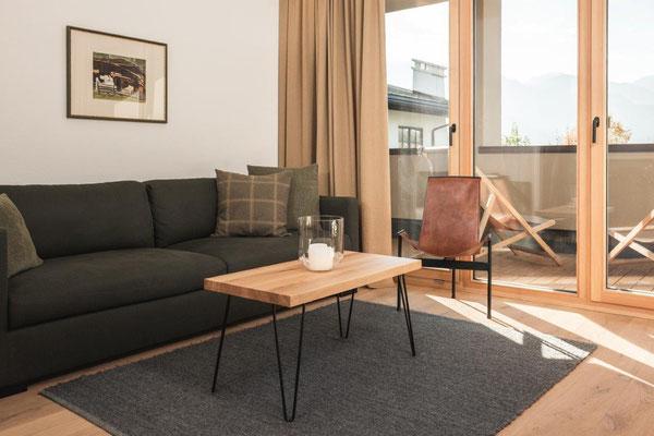 Ferienwohnung Curuna - Wohnraum