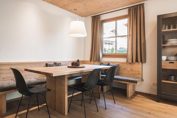Appartement Tschima - Essbereich