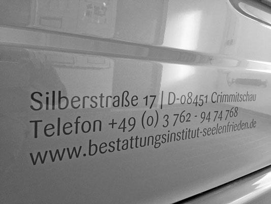 folien-fabrik / Bestattungsinstitut Seelenfrieden / Corporate Identity