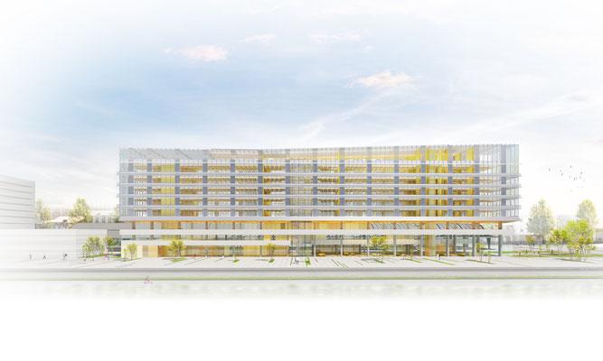 | Siège sociale Caisse d'épargne | Bordeaux  |  Architecte: Agence Arotcharen |