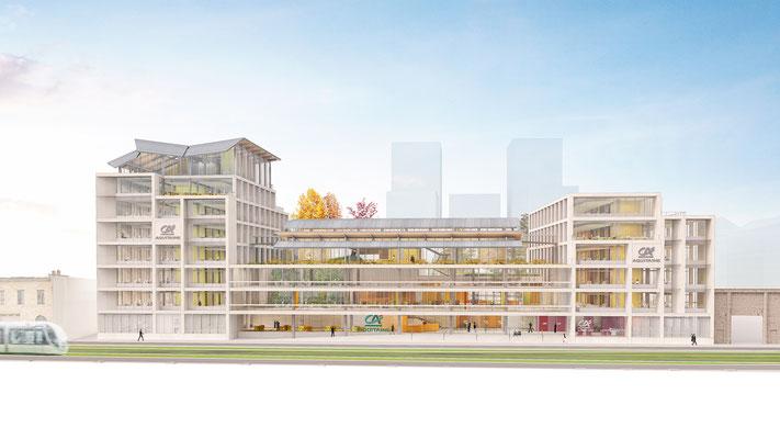| Siège social Aquitaine Crédit Agricole | Bordeaux |  Architecte: Agence Arotcharen |