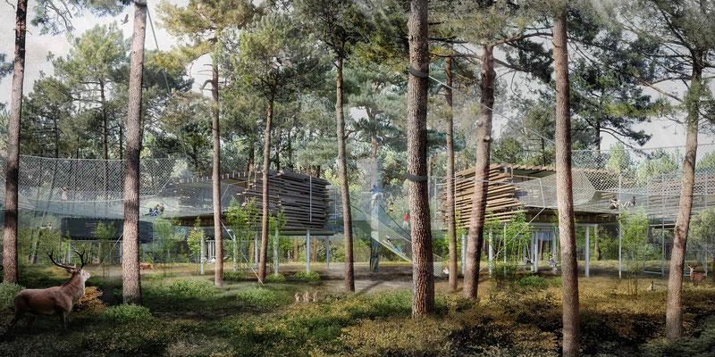 Center Parcs, Pierre et vacances, Lot et Garonne. Agence d'architecture Patrick Arotcharen.