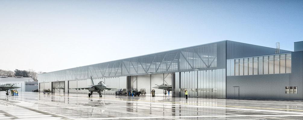 Conception/Construction avec l'agence Etchart pour la construction du 4 ième escadron rafale | Mont de Marsan | Agence Arotcharen |