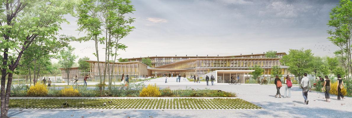 | lycée de Pibrac | Toulouse | Architecte: Agence Arotcharen |