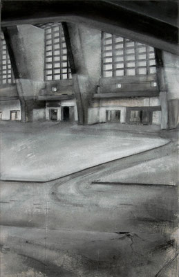 2009, Großmarkthalle III, Acryl auf Leinwand, 140 x 90 cm