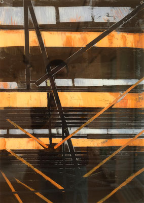 2018, Fredenhagen II, Multimedia hinter Plexiglas, 60 x 90 cm