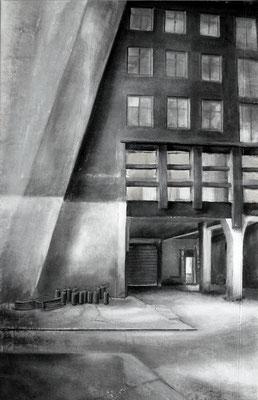 2009, Großmarkthalle II, Acryl auf Leinwand, 150 x 92 cm