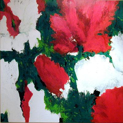 Rot Grün Weiß  |  Acryl auf Leinwand  |  100 x 100  |  1999