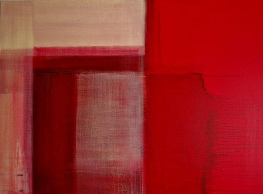 Kirschrot - Sahnezart  |  100 x 150  |  Acryl auf Leinwand  |  2014