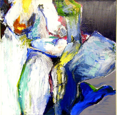 Blauer Fuß  |  100 x 100  |  Acryl auf Leinwand  |  2005