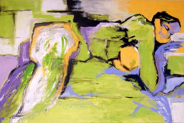 Ruhende  |  120 x 100  |  Acryl auf Leinwand  |  2002