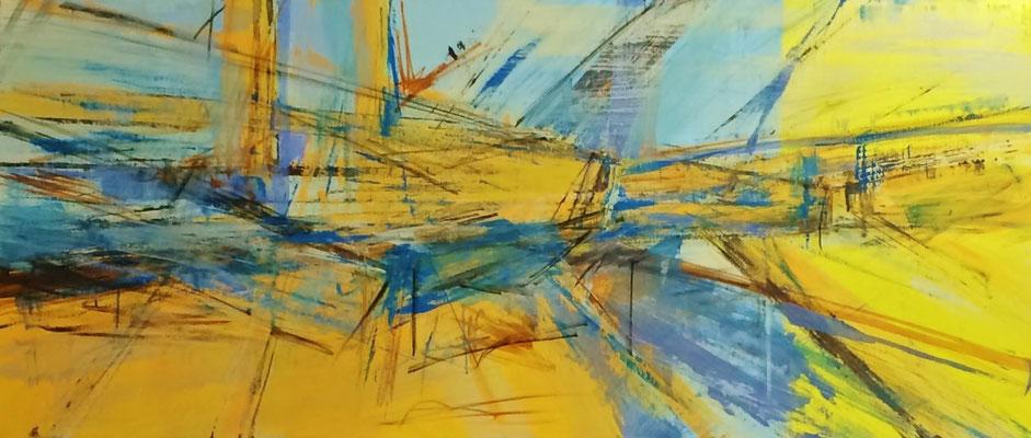 Brücke  |  180 x 80  |  Acryl auf Leinwand  |  2015