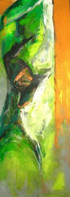 Grüne Dame  |  140 x 60  |  Acryl auf Leinwand  |  2005