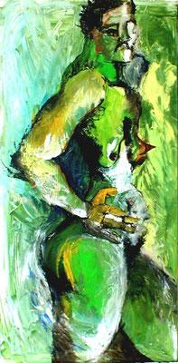 Die Kriegerin  |  Acryl auf Leinwand  |  50 x 100  |  2000
