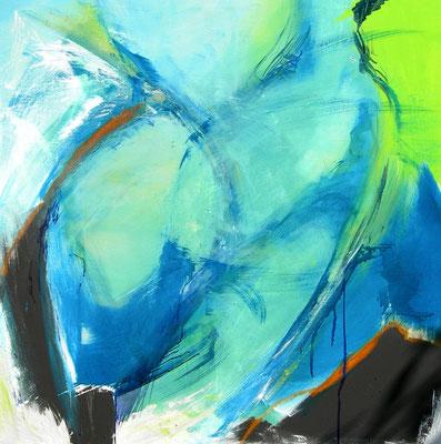 Ausschreitung  |  100 x 100  |  Acryl auf Leinwand  |  2010