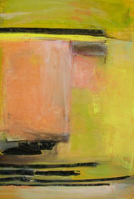 rosa Zeiten  |  Acryl, Pigment, Holz auf Leinwand  |  100 x 150  |  2013