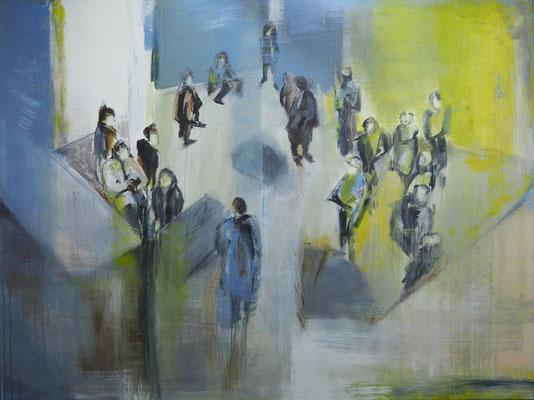 Raumsucher |  Acryl auf Leinwand  |  120 x 160  |  2016