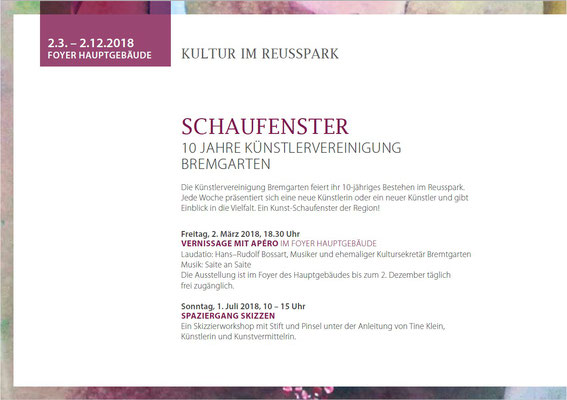 "Flyer ""Schaufenster"" Vernissage"