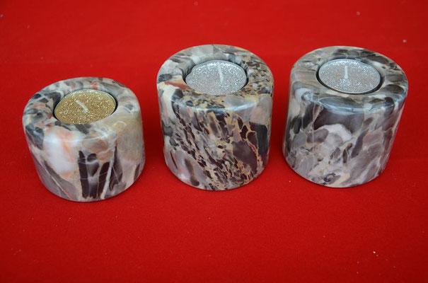 Teelichthalter aus Konglomerat