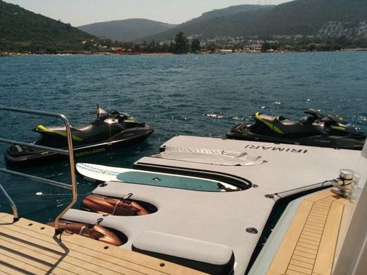 Superyacht Jetski and tender inflatable dock