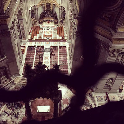 View from St. Peter's Basilica in Rome