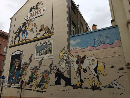 Lucky Luke - Rue de la Buanderie / Brussels / Comic Route