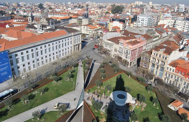View from Igreja dos Clérigos in Porto