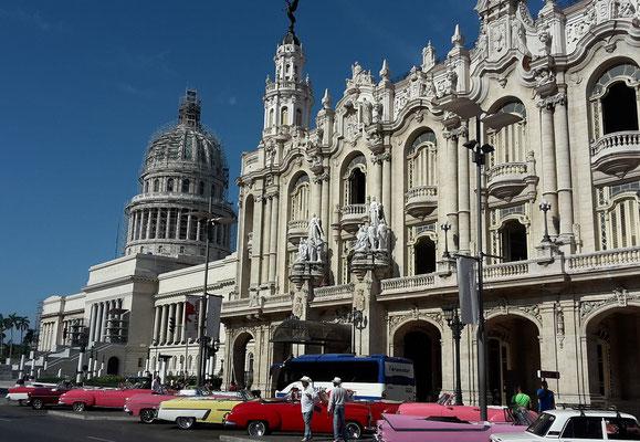 Reiseroute Kuba Mexiko Rundreise und baden - Parque Central Havana
