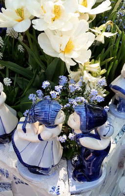 Keukenhof Holland 2018 - Inspirationsgarten Delft Blau Garten