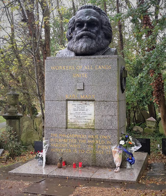 London Geheimtipps - Highgate Cemetery / Karl Marx Grab