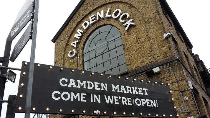 London bei Regen - Stables Market Camden