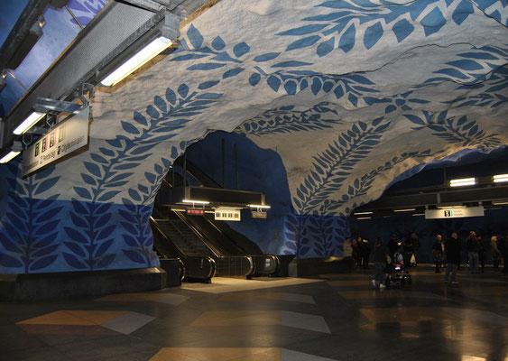 U-Bahn Station T-Centralen (Stockholm Wochenende Tipps)