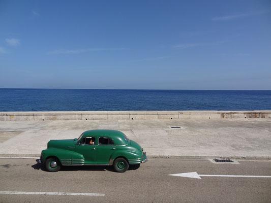 Reiseroute Kuba Mexiko Rundreise und baden - Malecon Havana