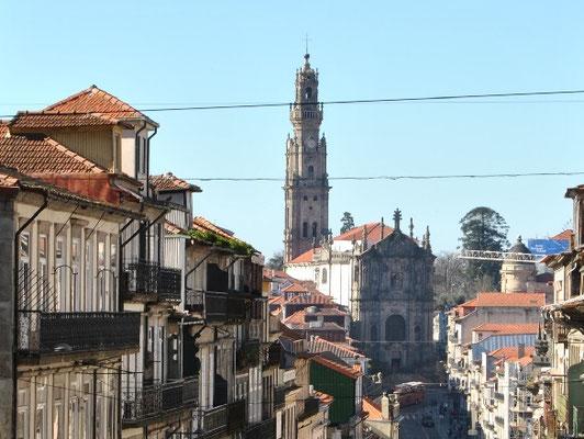 View at Igreja dos Clérigos in Porto