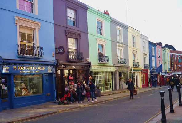 London in 3 Tagen - Sehenswürdigkeiten: Portobello Road Notting Hill
