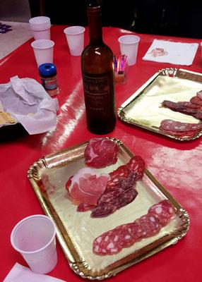 Salami und Schinken bei der Food Tour durch Trastevere Rom