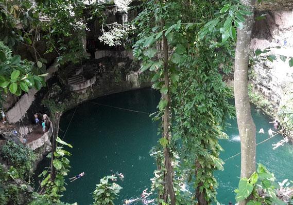 Cuba Mexico itinerary 2 weeks - Cenote Zaki Valladolid