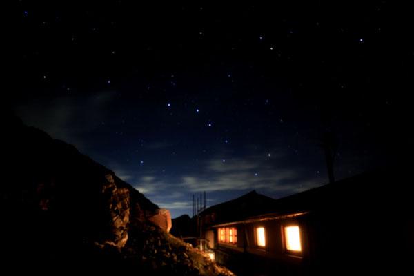 北斗七星と水晶小屋