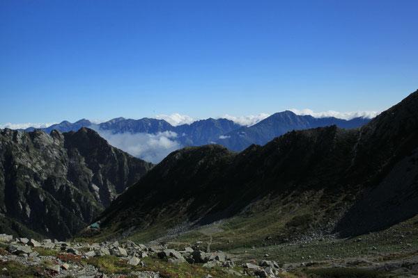 白馬岳方面を望む