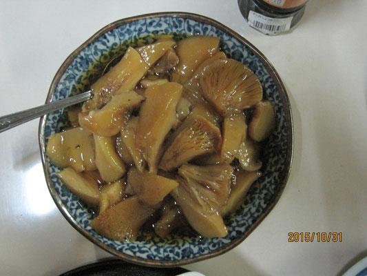 ムキタケの煮物