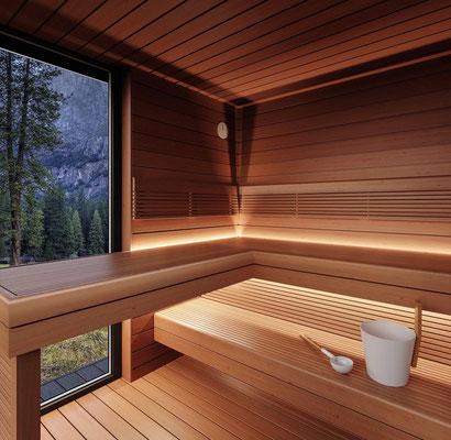 Aussen Sauna