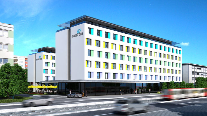Hotel 3D-Visualisierung Architektur