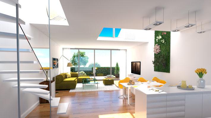 3D-Visualisierung Wohnzimmer Architektur-Entwurf_04