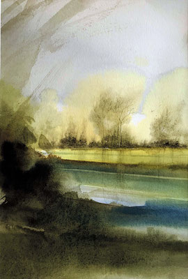 Somewhere (2) watercolor pure on paper cm 35 x 25