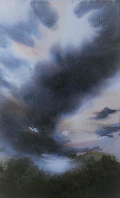 Nuvole 2 acquerello cm 58 x 34