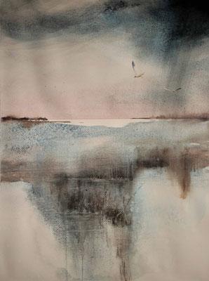 Laguna 1 acquerello cm 47 x 43
