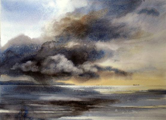 Nuvole in laguna 1 cm 55 x 73