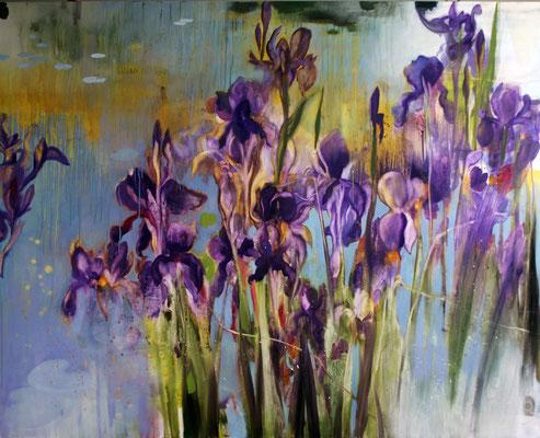 Iris olio su tela cm 120 x 150 (1)